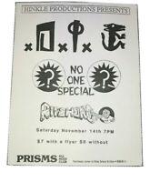 D.I. Vintage 1987 Punk Rock Concert Flyer Handbill Arizona Adolescents Social D