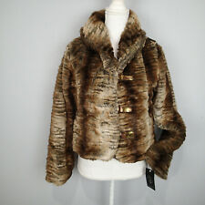 Baby Phat Women's Winter Jacket, Brown sz s faux fur coat