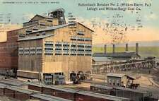Wilkesbarre Pennsylvania Hollenbach Breaker Coal Mine Antique Postcard K44369