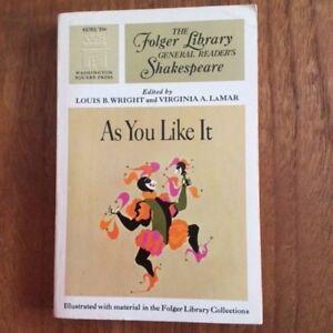 William Shakespeare's AS YOU LIKE IT (paperback - livre de poche)