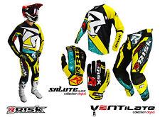 Risk Racing Ventilate Digital/Machine Motocross Bekleidung Schutz Hose Oberteil