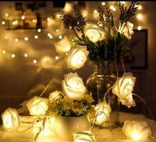 Rose Flower String IndoorLights Christmas Wedding Home Birthday Valentine's Day