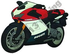 Ducati 1098 rubber key ring motor bike cycle gift keyring chain