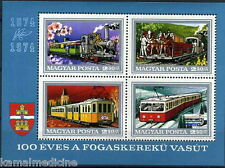 Hungary 1974 MNH SS, Train, Railways, Horse Carriage, Transport