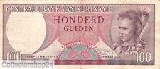 Suriname 100 Gulden 1963 Zf Pn 123 serial VS026600