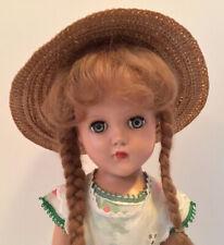 Vintage Arranbee R&B Nancy Doll 14� Original Dress Hat Long Braids Adorable