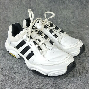 Mens ADIDAS Pure Trainer Size 9.5 White Black Training Sneakers Shoes 672547