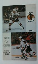 Vintage NHL 1981-82 CHICAGO BLACKHAWKS Media Guide RARE Hockey Darryl Sutter