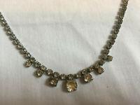VINTAGE Sparkling Clear Rhinestone Diamante Necklace