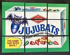 LOST WACKY PACKAGES 1st SERIES Complete ALTERNATE PUZZLE SET #2 JUJUBATS