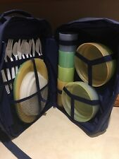 New Retired Tupperware Picnic Backpack With Complete Set Seating For Four