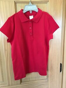 NWT Gymboree Polo shirt Top Girls Uniform Short Sleeve Red Outlet
