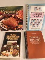 Vintage Cookbooks Lot Of 4 Spiral Bound
