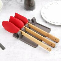 Cooking Utensil Holder with Handle Decorative Kitchen Stove /& Counter Top Red Ceramic Spoon Rest