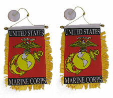 "Wholesale lot 3 EGA Marines USMC Double Sided Mini Flag 4""x6"" Window Banner"