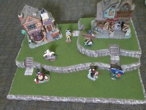 Halloween Village Display Platform Base H39 For Lemax Dept56 Dickens + More
