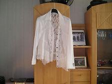 Weiße Damen Bluse von Tredy Gr 48