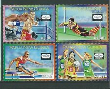 PAPUA NEW GUINEA 2010 COMONWEALTH GAMES SET OF 4  UNMOUNTED MINT,MNH