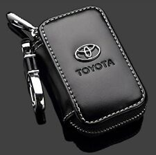 Genuine Leather Toyota Car Key Chain Coin Holder Zipper Case Remote Wallet Fob