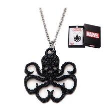 Marvel Avengers Hydra Black Rhinestone Logo Necklace