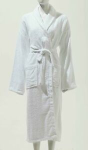 UNISEX 100 % SOFT COTTON TOWELLING BATHROBE DRESSING GOWN ALL STANDARD SIZES