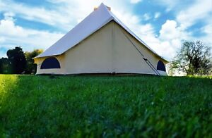 5m Cotton Canvas Bell Tent With Zipped In Groundsheet By Bell Tent Village