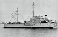 1956 AP Wire Photo MSTS & DEW Line resupply ship USNS Sagitta (T-AK-87)