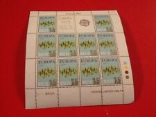 MALTA 1972 EUROPA SHEET MNH VALUE 75c