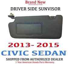 2013- 2015 Honda CIVIC SEDAN Genuine Factory OEM DRIVER Sunvisor W/Mirror