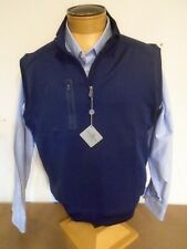Bobby Jones Crawford Performance Fabric Quarter Zip Vest NWT Large $95 Navy Blue