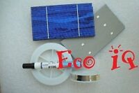 36 A- 3x6 .5v New Solar Cells with small Chip + WIRES + flux pen for DIY Panel