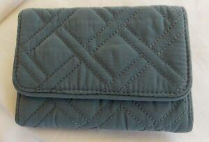 Vera Bradley CHARCOAL RFID Riley Compact Wallet NWT Free Shipping