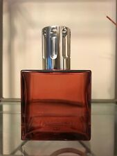 Lampe  Berger Cube Red Glass With Silver Tone Fragrance Oil Lamp Made in France