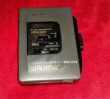 Vintage Sony Walkman WM-EX34 Mega Bass Personal Cassette Player