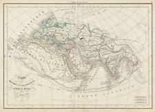 1850 Delamarche Map of the Ancient World: Europe, Africa, Asia