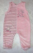 Baby Mädchen Nicki Strampler ohne Arm OKAY Gr. 62 rosa Motiv Hase + Biene