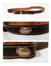 Sz 30 Mens Harley Davidson Belt Black Leather Silver Harley Studs USA