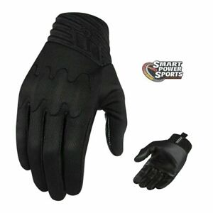 ICON - ANTHEM Motorcycle Glove - BLACK - PICK YOUR SIZE - D30 Knuckle -