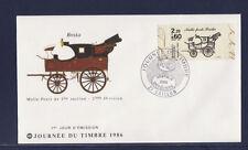 enveloppe 1er jour   journée du timbre    27  Gaillon    de carnet     1986