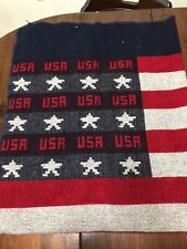 Woolrich Wool USA Flag Throw Blanket, Made In USA
