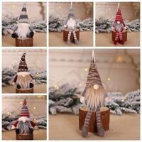 Juguete Muñecas enanas peludas Colgante árbol de Navidad Adornos de Navidad