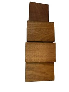 4 Pieces Of Variety Turning Blanks/Square Wood Blocks/Bowl Blanks, #91