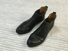 Fiorentini + Baker black leather chelsea ankle boots 40 6