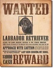 Labrador Retriever USA METALLO VINTAGE IMPICCATO DECORAZIONE MANIFESTO