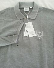 NWT LACOSTE 80th Anniversary Men's Gray Short Sleeve Polo Shirt Size 8 2XL Gator