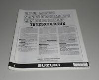 Instrucciones de Montaje Suzuki Tu 125 Xtx / Xtux Stand 09/1998