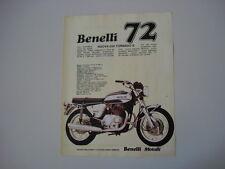 advertising Pubblicità 1972 MOTO BENELLI TORNADO 650 S