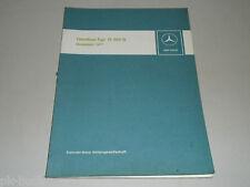 Werkstatthandbuch Einführung Neuerungen Mercedes Benz Omnibus Bus O 305 G 1977
