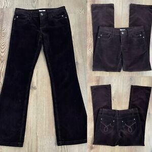 VTG Y2K 00s MK ONEJeans Cord Corduroy Brown Bootcut Flare Low Rise UK 10 L31