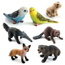 Animal Model Figurine 2pcs Home Miniature Fairy Garden Decoration Accessories